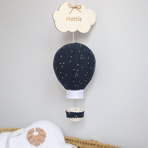 Navy Balloon With Gold Dots