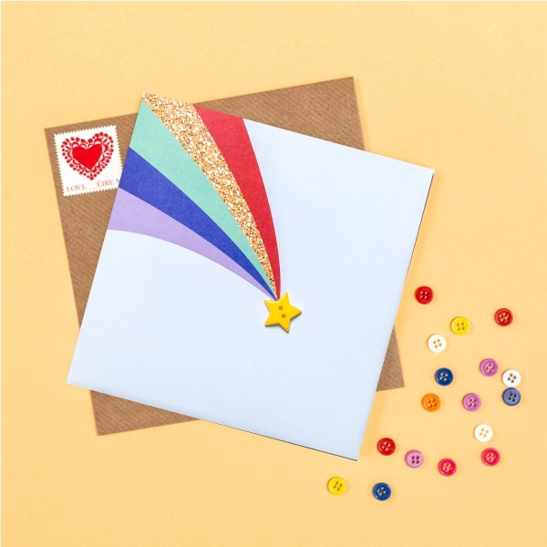 Rainbow and Star greeting card