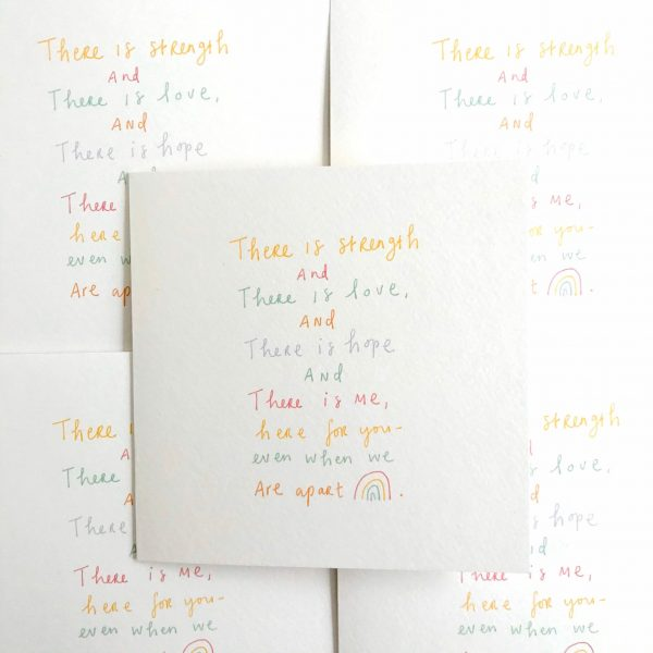 When we are apart greeting card