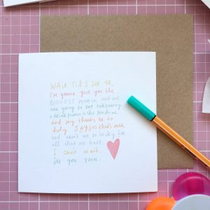 Wait til I see You (Processo version) greeting card