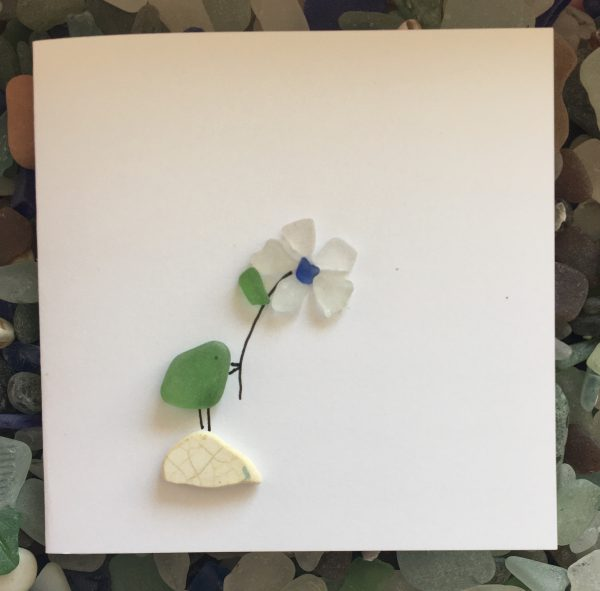 Set of 5 Bird Seaglass Notecards - 0F424F99 0A57 4956 8F1D 6EE83A969A84