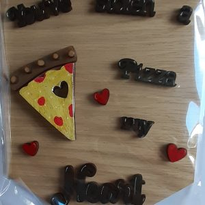 A Pizza of My Heart Hanging Decoration