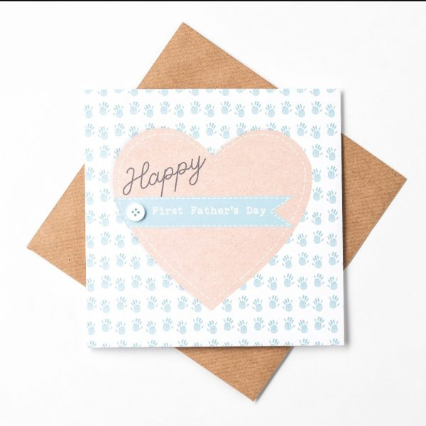 Happy First Father's Day greeting card, blank inside for your own message. Designed, printed and finished in Dublin.