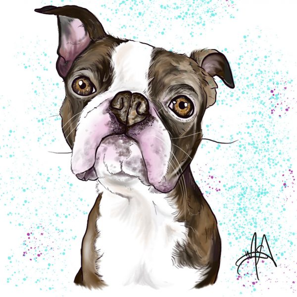 French Bulldog wall painting