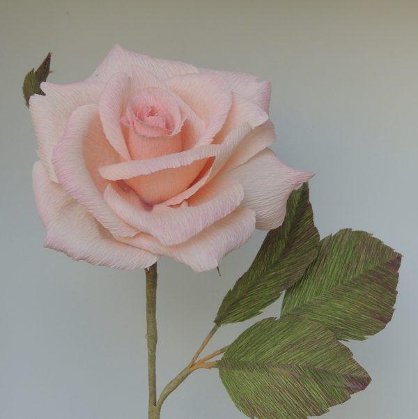 Hybrid tea rose crepe paper flower - DSCN6124 01