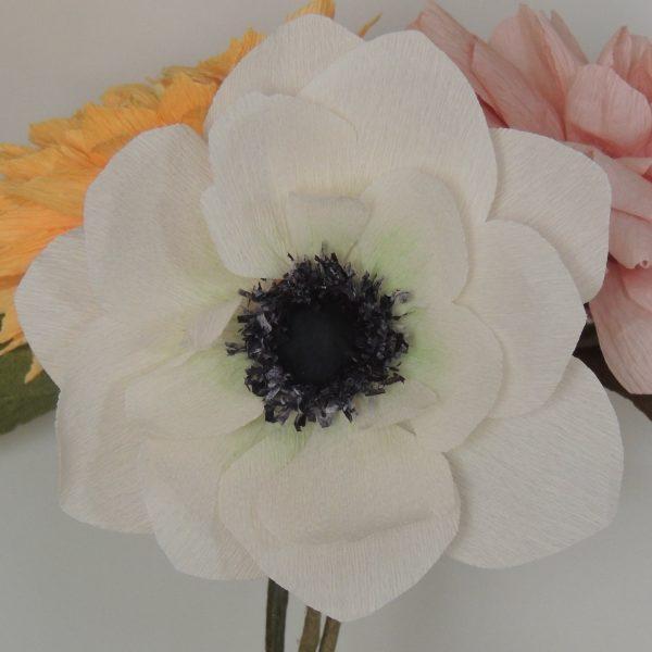 Anemone crepe paper flower - DSCN6141 01 scaled