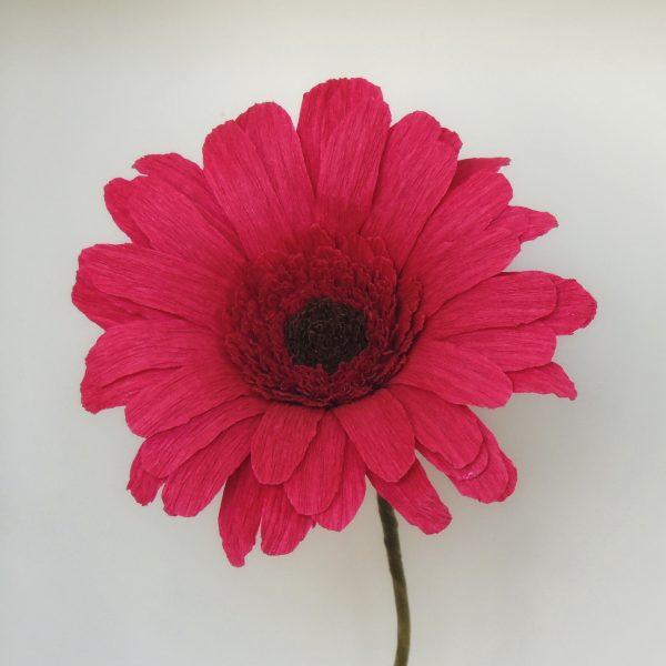 Gerbera crepe paper flower - DSCN6150 01 scaled