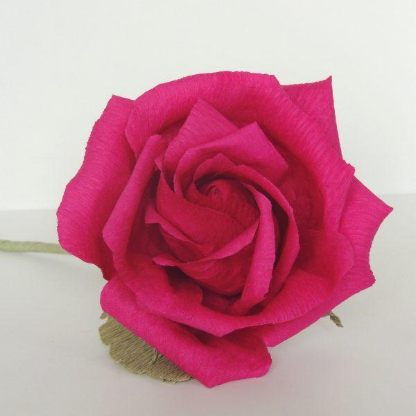 Rose crepe paper flower - DSCN6158 01 scaled
