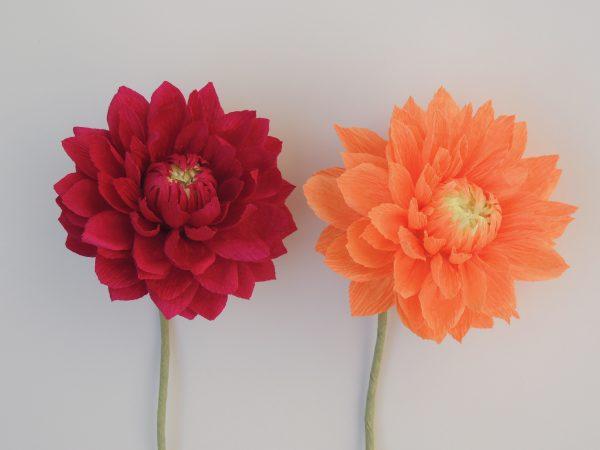 Small Dahlia crepe paper flower - DSCN6188 scaled