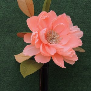 Peony crepe paper flower