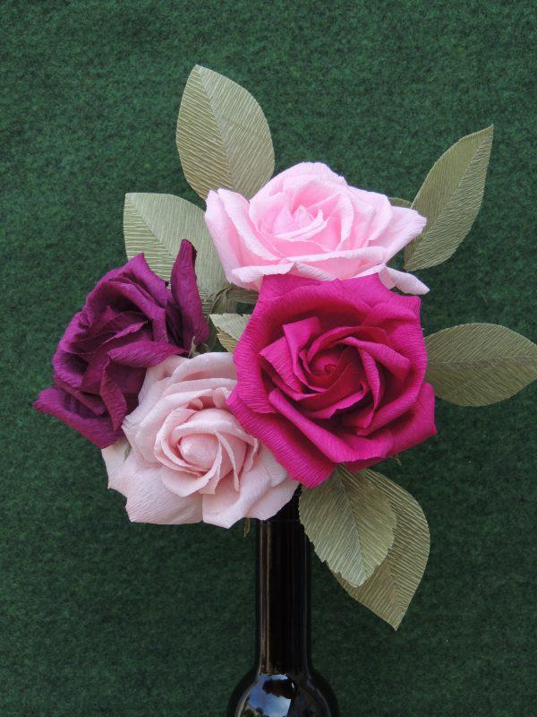 Rose crepe paper flower