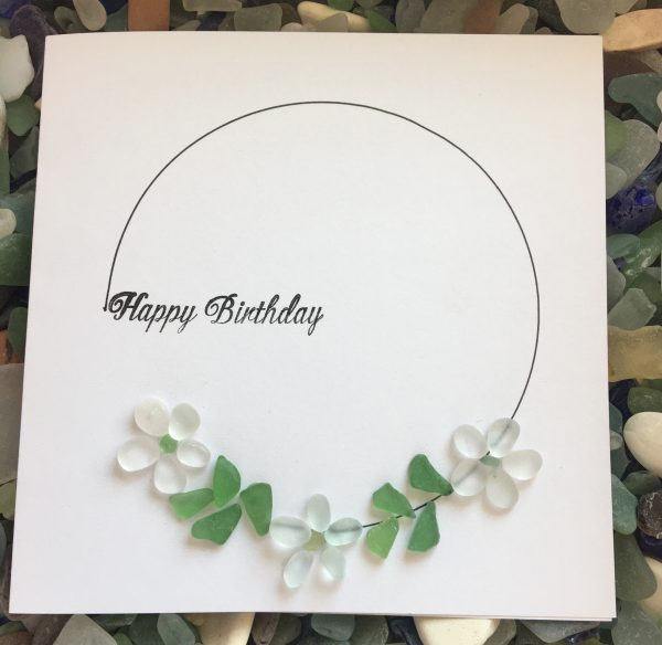Seaglass Happy Birthday Card
