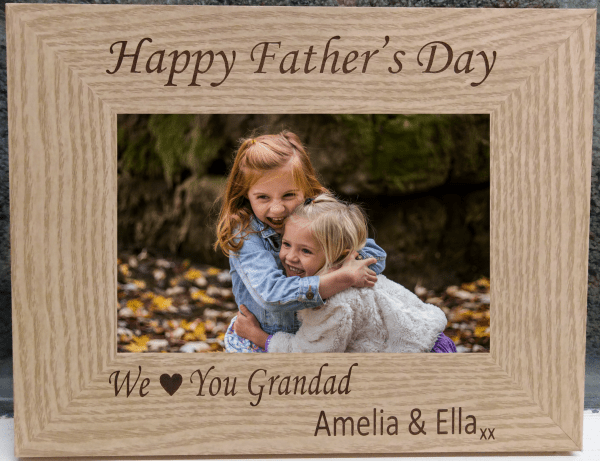 We Love You Father's Day Photo Frame - Happy Fathers Day Grandad