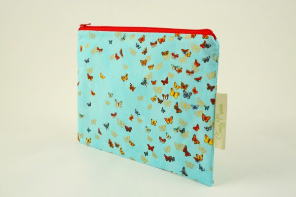 Blue Butterfly Makeup Bag - IMGL7583 scaled