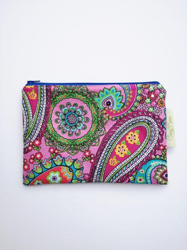 Pink Paisley Cotton Makeup Bag - IMG 20180813 103515 scaled