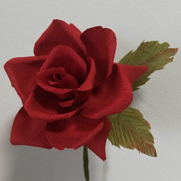 Hybrid tea rose crepe paper flower - IMG 20200427 104614 01