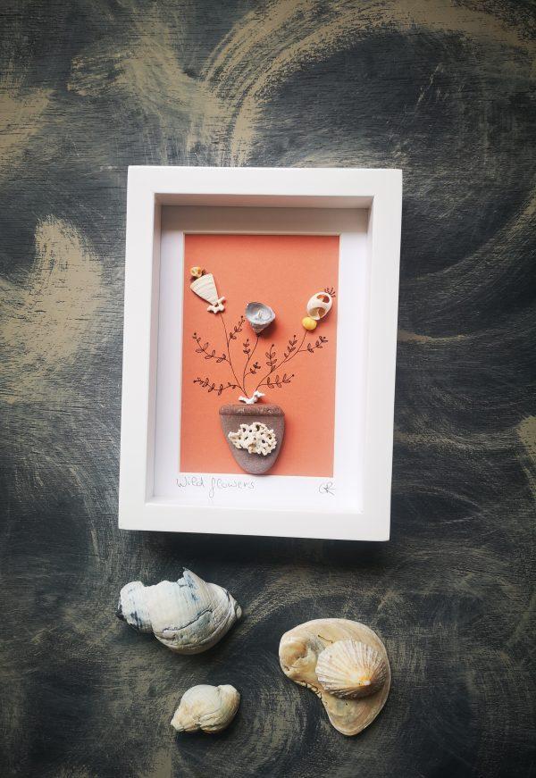 Wild Flowers Shell Art - IMG 20200513 125823 scaled