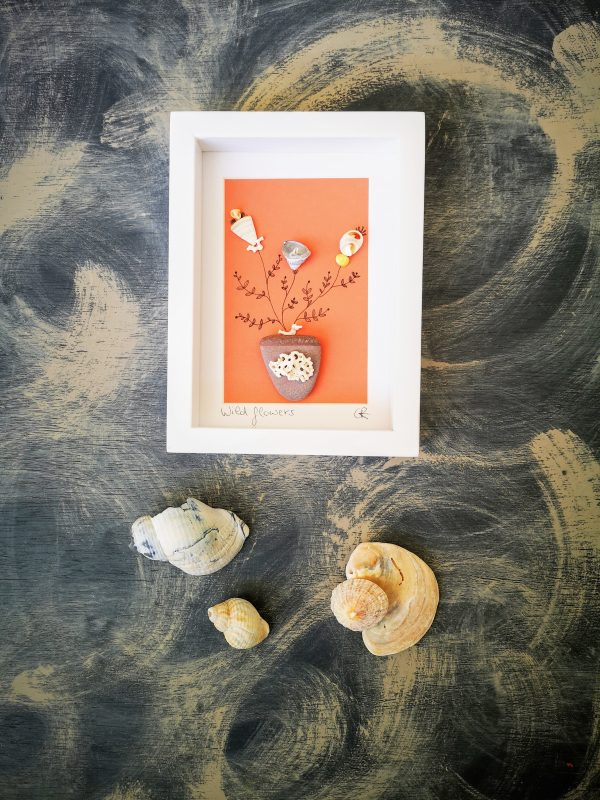 Wild Flowers Shell Art