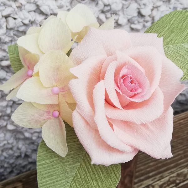 Hybrid tea rose crepe paper flower - IMG 20200516 175151 01