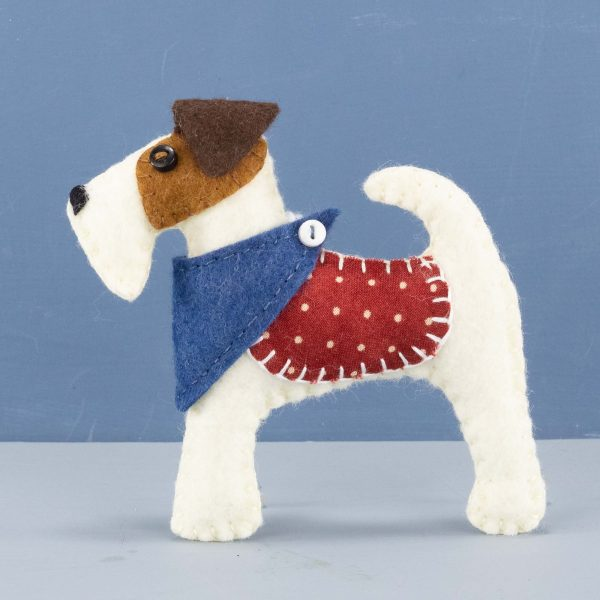 Fred the Fox Terrier felt ornament