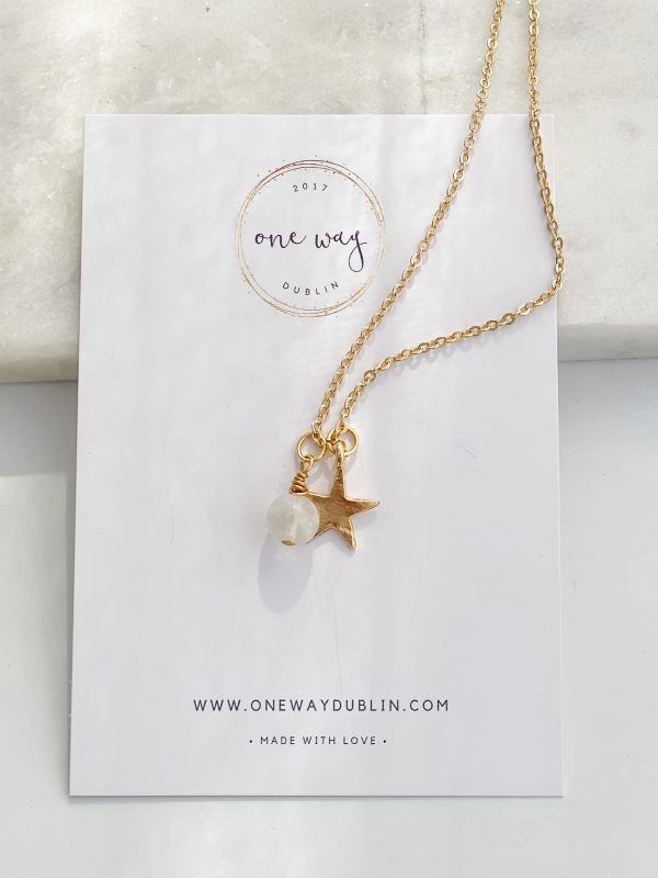 Falling Star Gold Charm Necklace