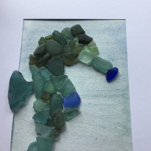 Seahorse Seaglass Greeting Card