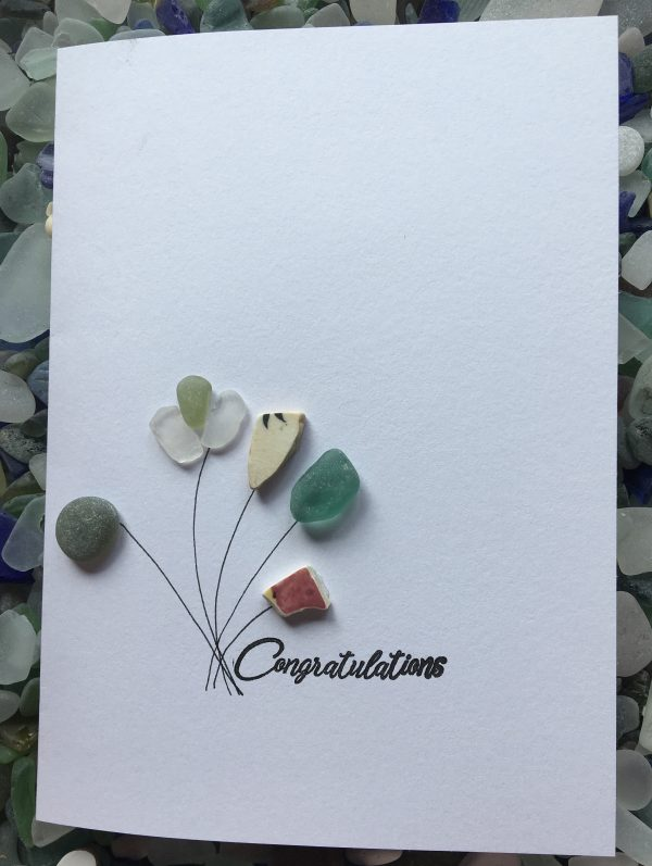 congratulations card seaglass art