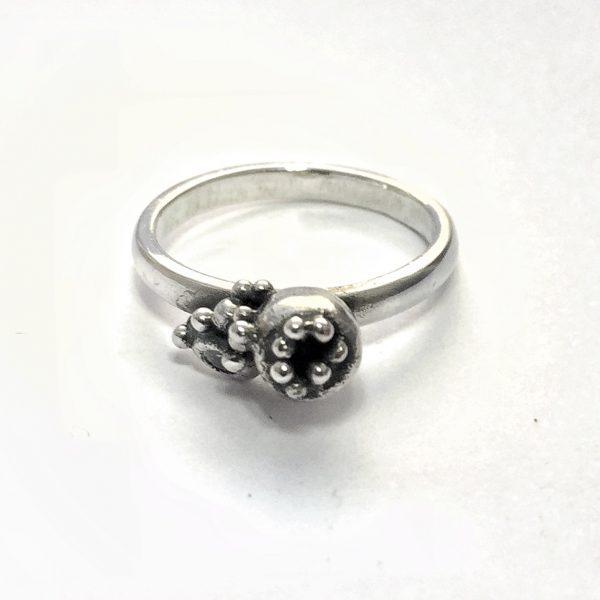 Silver Seedpod Ring - Pods 02 2