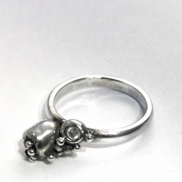Silver Seedpod Ring - Pods 02 3