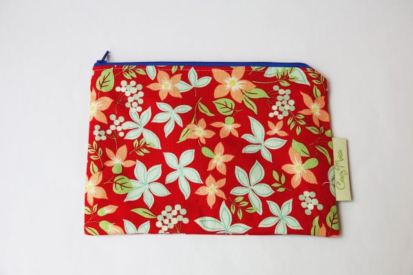Red Floral Makeup Bag - RX308475 scaled