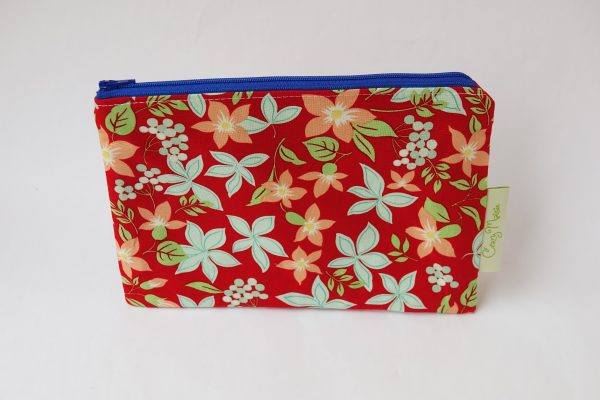 Red Floral Makeup Bag - RX308476 scaled