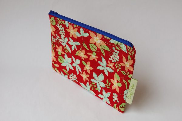Red Floral Makeup Bag - RX308477 scaled