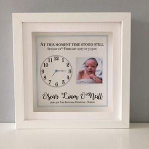 at this moment personalised baby frame