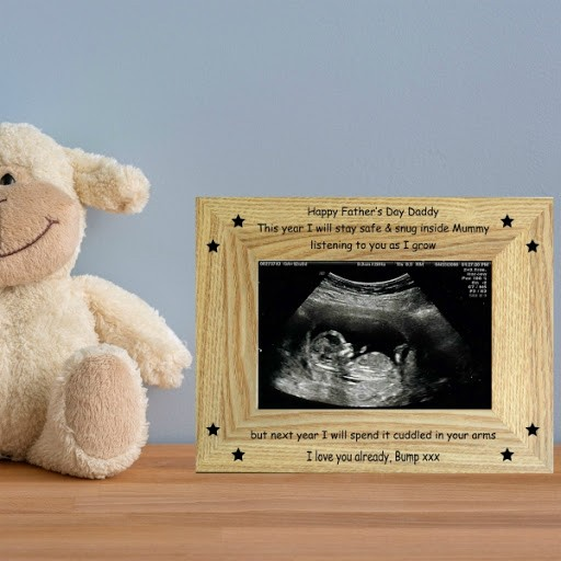 Happy Father's Day from Bump - baby scan photo frame fathers day