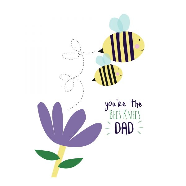 You're the Bees Knees - Fathers Day Card - beesknees2