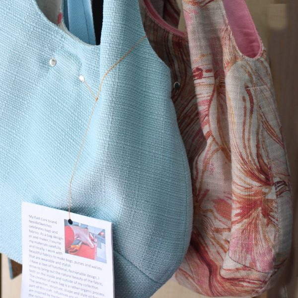 Pale Blue Boho Bag - both