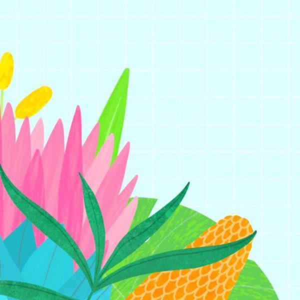 A4 Art Print - Fynbos - closeup fynbos 1