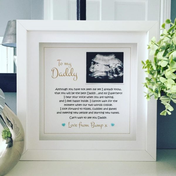 To Daddy, From Bump! (personalised frame)
