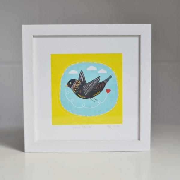 Square Art Print - Love Bird - framed love bird sq