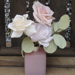 Hybrid tea rose crepe paper flower