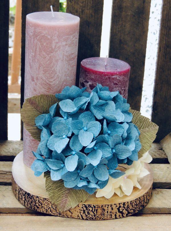 Hydrangea crepe paper flower