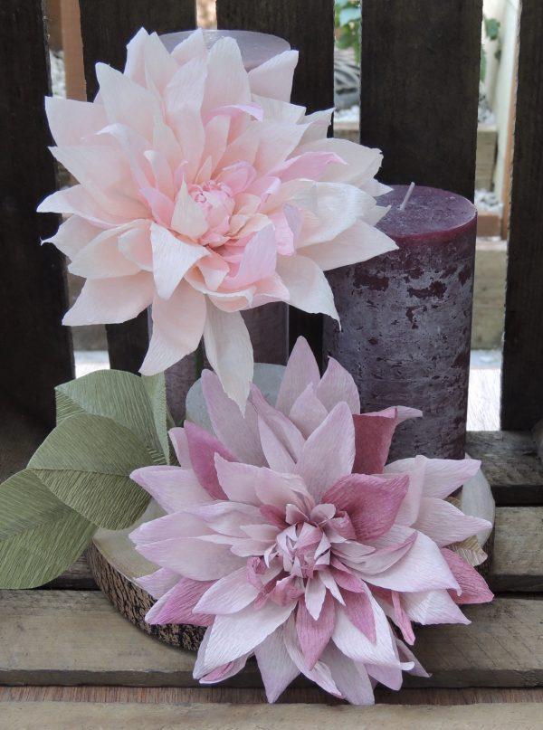 Big Dahlia crepe paper flower