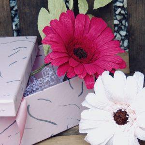 Gerbera crepe paper flower