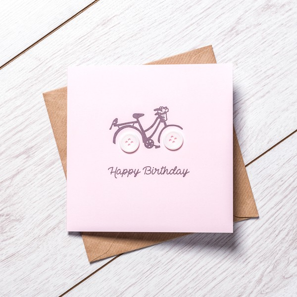 Girl Birthday Bike by little paper mill