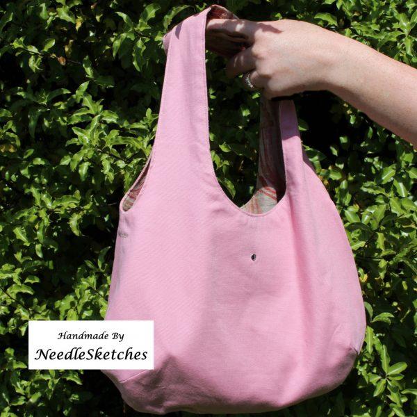 Reversible Linen Boho Bag - reversible boho pink 2