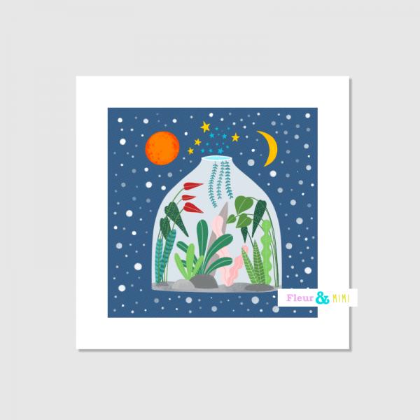 Square Art Print - Terrarium - terrarium