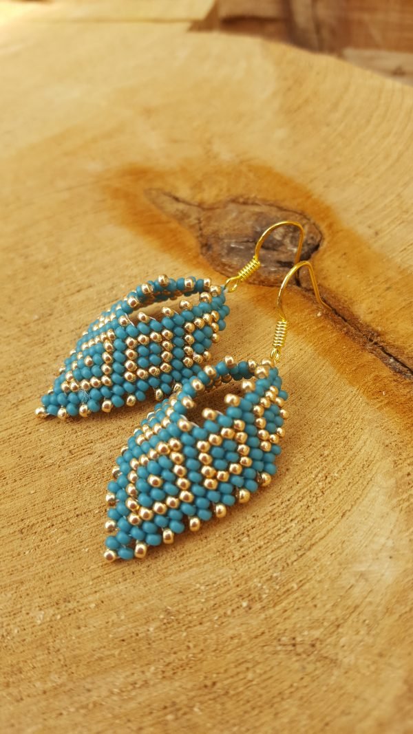 Turquoise Leaf Earrings - 20200409 163734 scaled