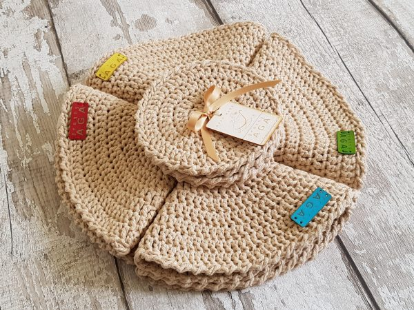 Crotchet Round Table Mats And Coasters - 20200606 141555