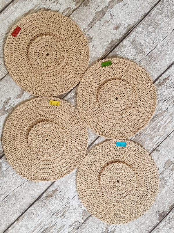 Crotchet Round Table Mats And Coasters - 20200606 141659
