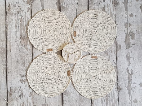Crotchet Round Table Mats And Coasters - 20200606 141958 scaled